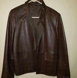 Like new leather jacket brown